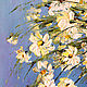Oil painting of Daisies in a clear vase with White flowers. Pictures. Zabaikalie. Online shopping on My Livemaster.  Фото №2