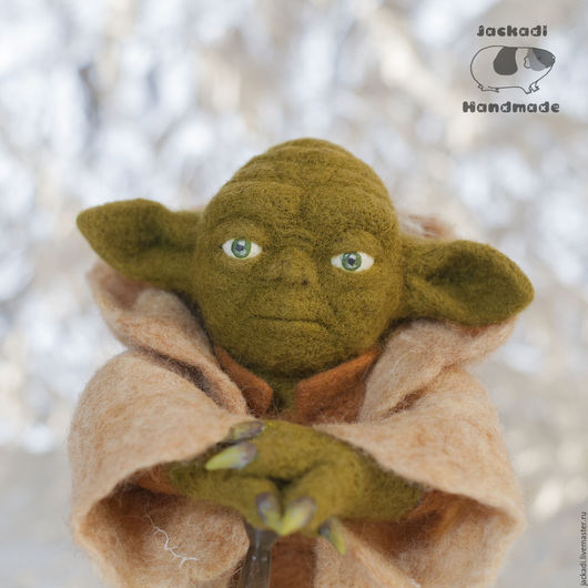 Коллекционные куклы ручной работы. Ярмарка Мастеров - ручная работа. Купить Йода - коллекционная кукла, игрушка - Звездные войны. Handmade.