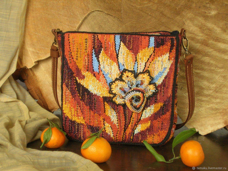 Сумка Осень. Ручное ткачество, Классическая сумка, Пенза,  Фото №1