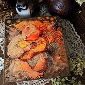 """Для дома и интерьера ручной работы. Ярмарка Мастеров - ручная работа Шкатулка-книга """" Рыжая песня"""". Handmade."""