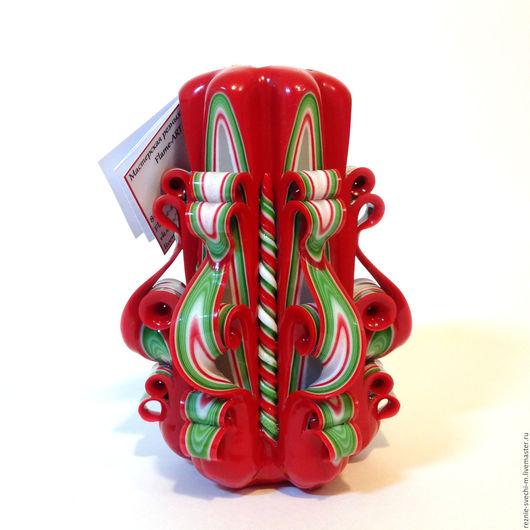 Свечи ручной работы. Ярмарка Мастеров - ручная работа. Купить Резная свеча Красная (арт.200). Handmade. Резные свечи