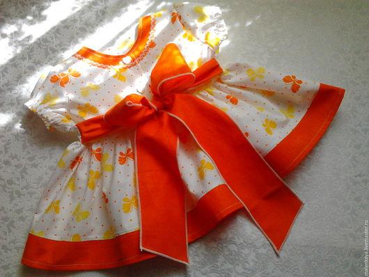 """Для новорожденных, ручной работы. Ярмарка Мастеров - ручная работа. Купить комплект для новорожденной """" Бемби"""". Handmade. Оранжевый"""