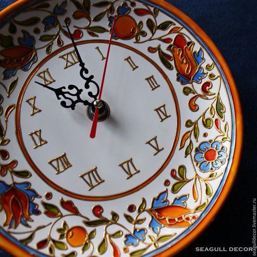 Часы для дома ручной работы. Ярмарка Мастеров - ручная работа. Купить Часы настенные. Роспись керамики. Handmade. Часы на кухню