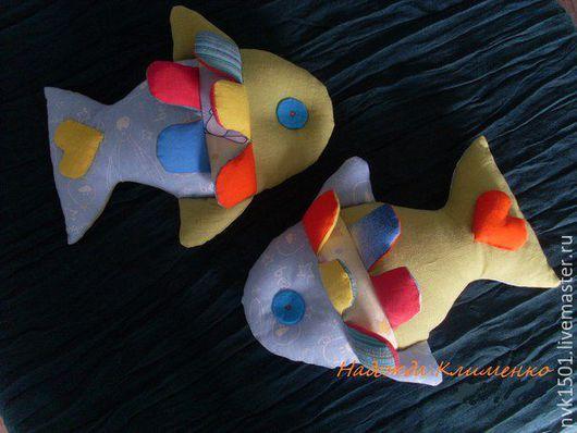 Развивающие игрушки ручной работы. Ярмарка Мастеров - ручная работа. Купить Развивающая игрушка Рыбка. Handmade. Голубой, рыбка, для малышей