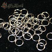 Материалы для творчества handmade. Livemaster - original item Single jump rings in silver, 6-7 mm (10 grams). Handmade.