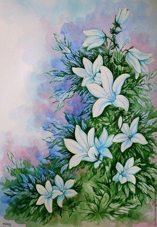 """Картины цветов ручной работы. Ярмарка Мастеров - ручная работа. Купить картина """"Колокольчик"""". Handmade. Картина, картины, полевые цветы"""