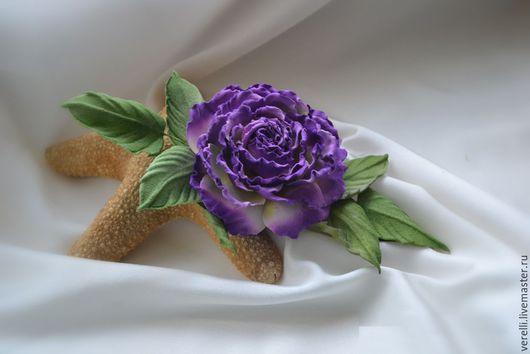 """Броши ручной работы. Ярмарка Мастеров - ручная работа. Купить Цветы из шелка. Роза из бархата """"ELLI"""". Handmade. Бордовый, бархат"""