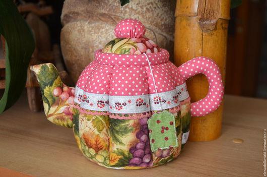 Куклы Тильды ручной работы. Ярмарка Мастеров - ручная работа. Купить Чайник текстильный. Handmade. Разноцветный, красный, чайник тильда