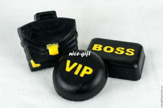 Мыло ручной работы. Ярмарка Мастеров - ручная работа. Купить Подарок для мужчины набор мыла Босс VIP. Handmade. Черный