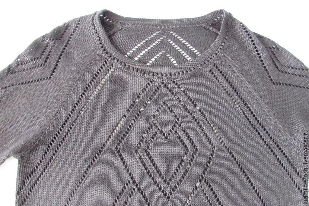 Вязаный пуловер черный доставка