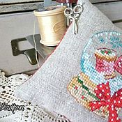 Материалы для творчества handmade. Livemaster - original item Pincushion gift for a needlewoman embroidery. Handmade.