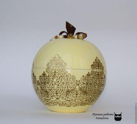Шкатулки ручной работы. Ярмарка Мастеров - ручная работа. Купить Шкатулка яблоко для мелочей. Handmade. Шкатулка для украшений, шкатулка для мелочей