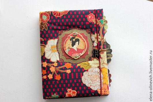 Персональные подарки ручной работы. Ярмарка Мастеров - ручная работа. Купить Блокнот для зарисовок в азиатском стиле. Handmade. Комбинированный, блокноты