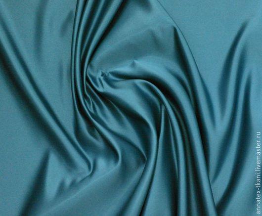Атлас матовый - `Абрахам` - цвет сине-зеленый