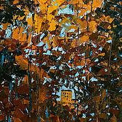 Картины и панно ручной работы. Ярмарка Мастеров - ручная работа Картина маслом город пейзаж «Подсвеченные осенью». Handmade.