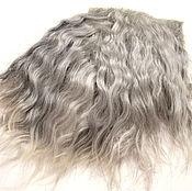 Материалы для творчества handmade. Livemaster - original item The skin of a goat (the hair for dolls, grey) Curls Curls for dolls. Handmade.
