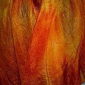 """Аксессуары ручной работы. Ярмарка Мастеров - ручная работа Парео палантин """"Оранжевое настроение """". Handmade."""