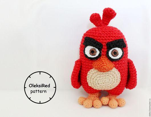 Вязание ручной работы. Ярмарка Мастеров - ручная работа. Купить Вязаный Ред из Angry Birds (мастер-класс по вязанию крючком). Handmade.