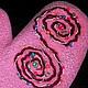 Варежки, митенки, перчатки ручной работы. Валяные варежки Розовые спиральки. Оксана Балабась (WoolPastila). Ярмарка Мастеров. Итальянский меринос