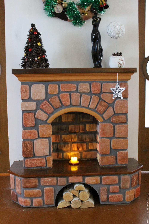 Декоративный угловой камин из гипсокартона