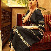 Одежда ручной работы. Ярмарка Мастеров - ручная работа Платье темно-синее в  стиле шанель. Handmade.