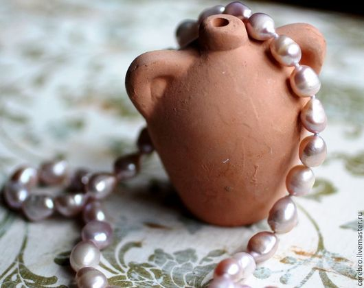 """Колье, бусы ручной работы. Ярмарка Мастеров - ручная работа. Купить """"Лавандовый цвет"""" классическое ожерелье из барочного жемчуга.. Handmade."""