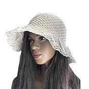 handmade. Livemaster - original item hats: Linen Caprice Hat. Handmade.