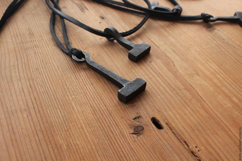 Подвески: Кованый молот тора, Подвеска, Палех,  Фото №1