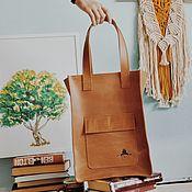 """Классическая сумка ручной работы. Ярмарка Мастеров - ручная работа Кожаная сумка-шопер """"Изабель"""". Handmade."""