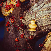 Украшения handmade. Livemaster - original item Aroma bottle made of birch wood for essential oils WP51. Handmade.