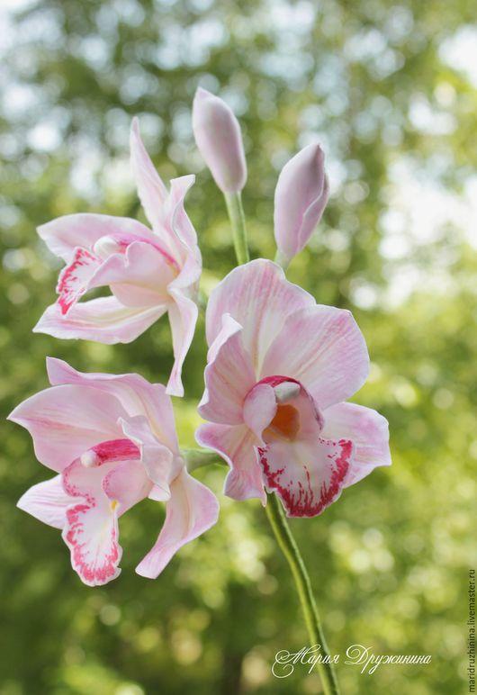 Цветы ручной работы. Ярмарка Мастеров - ручная работа. Купить Орхидея Цимбидиум из фоамирана.. Handmade. Комбинированный, орхидея ручной работы