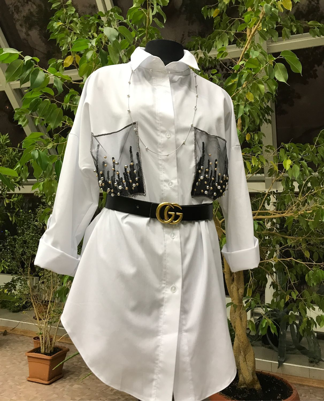 Boho style shirt, white shirt, black shirt, Suits, Moscow,  Фото №1
