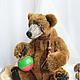 Мишки Тедди ручной работы. бурый медведь Бернард (40 см.,рычит). Романова Юлия (September Bears). Интернет-магазин Ярмарка Мастеров.
