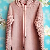 Одежда handmade. Livemaster - original item Angora hoodie with merino. Handmade.