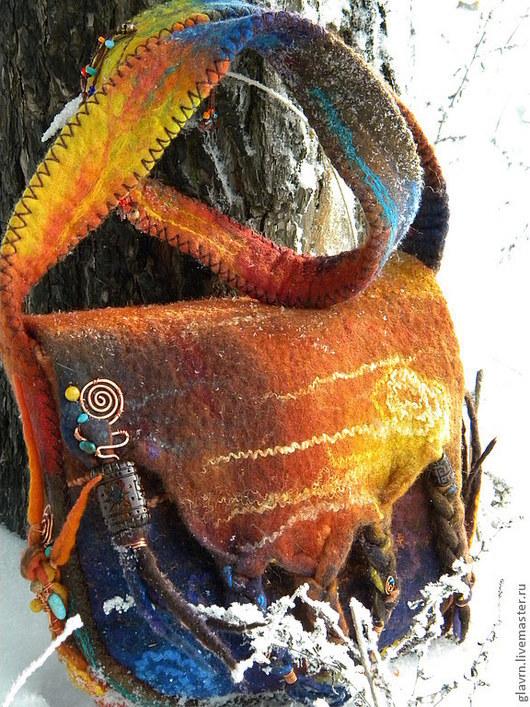 Женские сумки ручной работы. Ярмарка Мастеров - ручная работа. Купить Сумка Waka Waka. Handmade. Абстрактный, деревянные бусины
