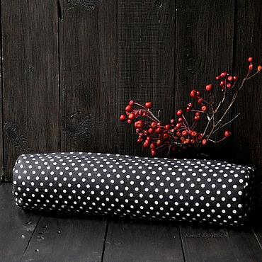 Текстиль ручной работы. Ярмарка Мастеров - ручная работа Гречневый валик под поясницу. Handmade.