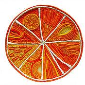 """Картины и панно ручной работы. Ярмарка Мастеров - ручная работа панно """"Апельсин"""". Handmade."""