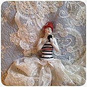 Винтаж ручной работы. Ярмарка Мастеров - ручная работа Антикварная игольница(Half-doll) Арт деко 1920-х. Handmade.