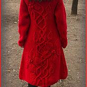 Одежда ручной работы. Ярмарка Мастеров - ручная работа Пальто с крупными цветами. Handmade.