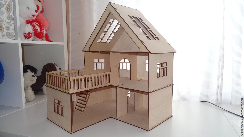 Как сделать дом и куклу из картона