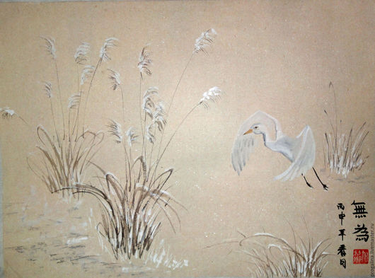 Животные ручной работы. Ярмарка Мастеров - ручная работа. Купить Вверх (китайская живопись). Handmade. Китайская живопись, картина в подарок