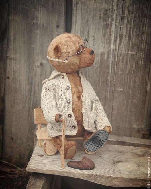 Мишки Тедди ручной работы. Ярмарка Мастеров - ручная работа. Купить Медведед Кузьмич. Handmade. Коричневый, плюш винтажный