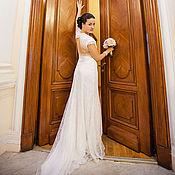 Одежда ручной работы. Ярмарка Мастеров - ручная работа Свадебное платье из кружева и шелка. Handmade.