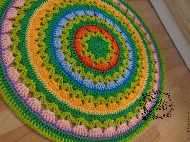 Вязание кружков спицами для пола