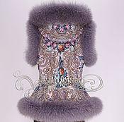 """Одежда ручной работы. Ярмарка Мастеров - ручная работа Жилет с капюшоном """"Тайна сердца-2"""" с натуральным мехом серого песца. Handmade."""