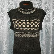 Одежда handmade. Livemaster - original item The order. Sleeveless sweater.Vest Sibiryak 3.. Handmade.