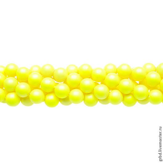Для украшений ручной работы. Ярмарка Мастеров - ручная работа. Купить Жемчуг Сваровски 8 мм 5810 Neon yellow (08-734). Handmade.