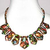 Украшения handmade. Livemaster - original item Necklace made of natural multi-colored variscite. Handmade.