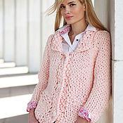 Одежда ручной работы. Ярмарка Мастеров - ручная работа Трикотажная кофта цвет нежно-розовый. Handmade.
