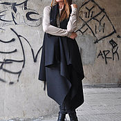 Одежда handmade. Livemaster - original item Cashmere, black coat - VE0002CA. Handmade.
